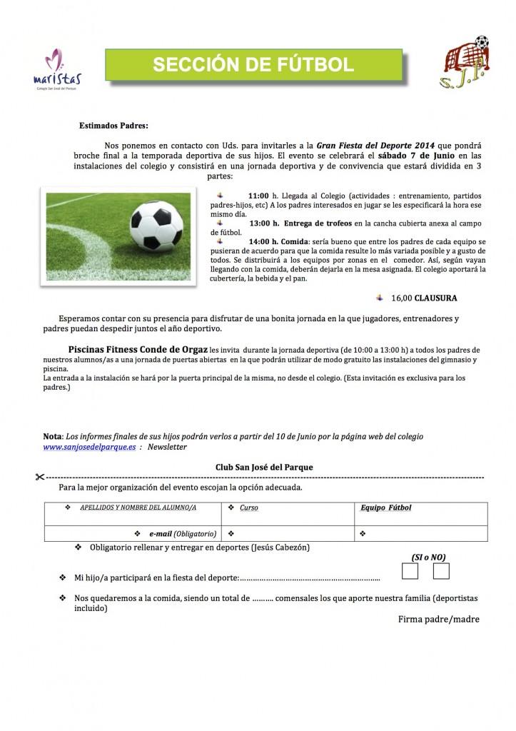Fútbol - Fiesta fin de temporada  Fútbol 2013- 14.docx