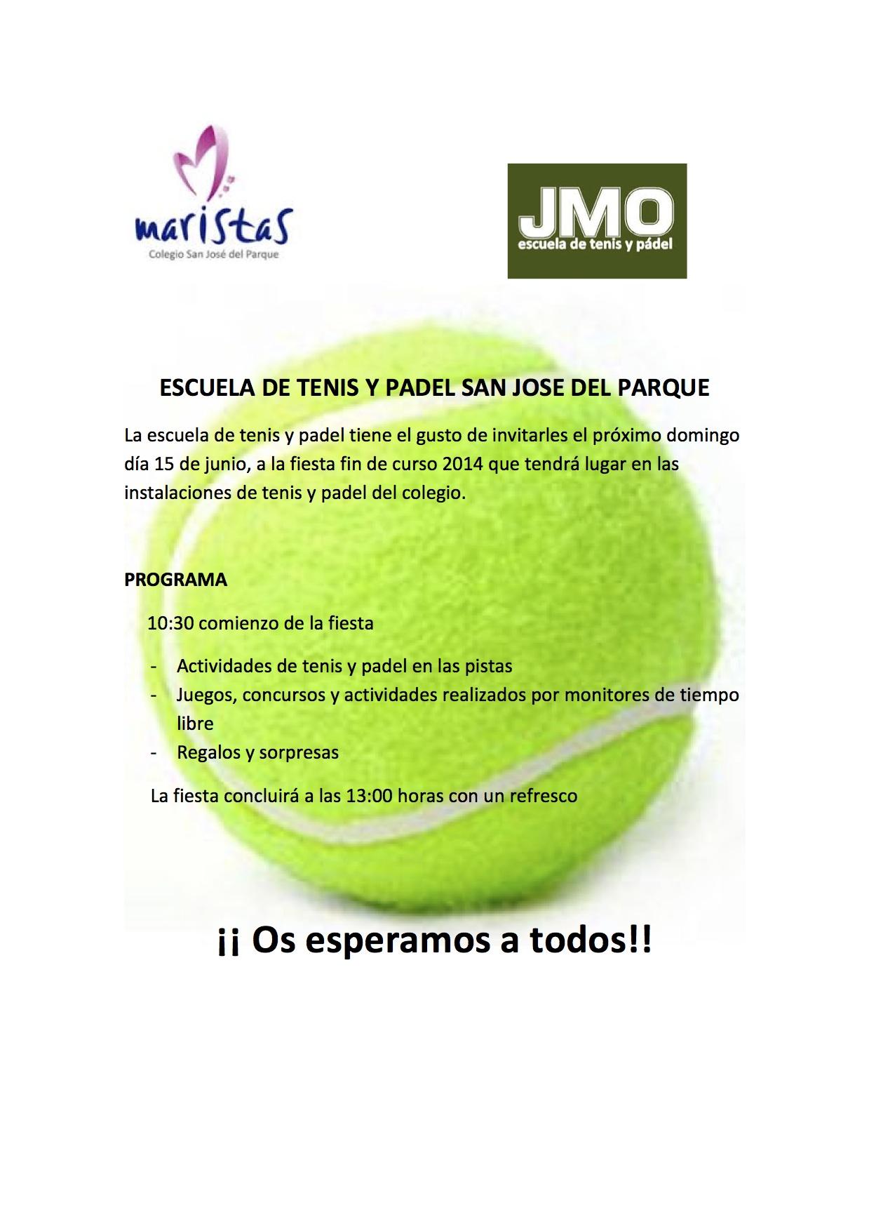 Fiesta Fin de Curso Tenis