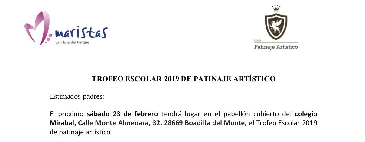 TROFEO ESCOLAR 2019 DE PATINAJE ARTÍSTICO @ Colegio Mirabal
