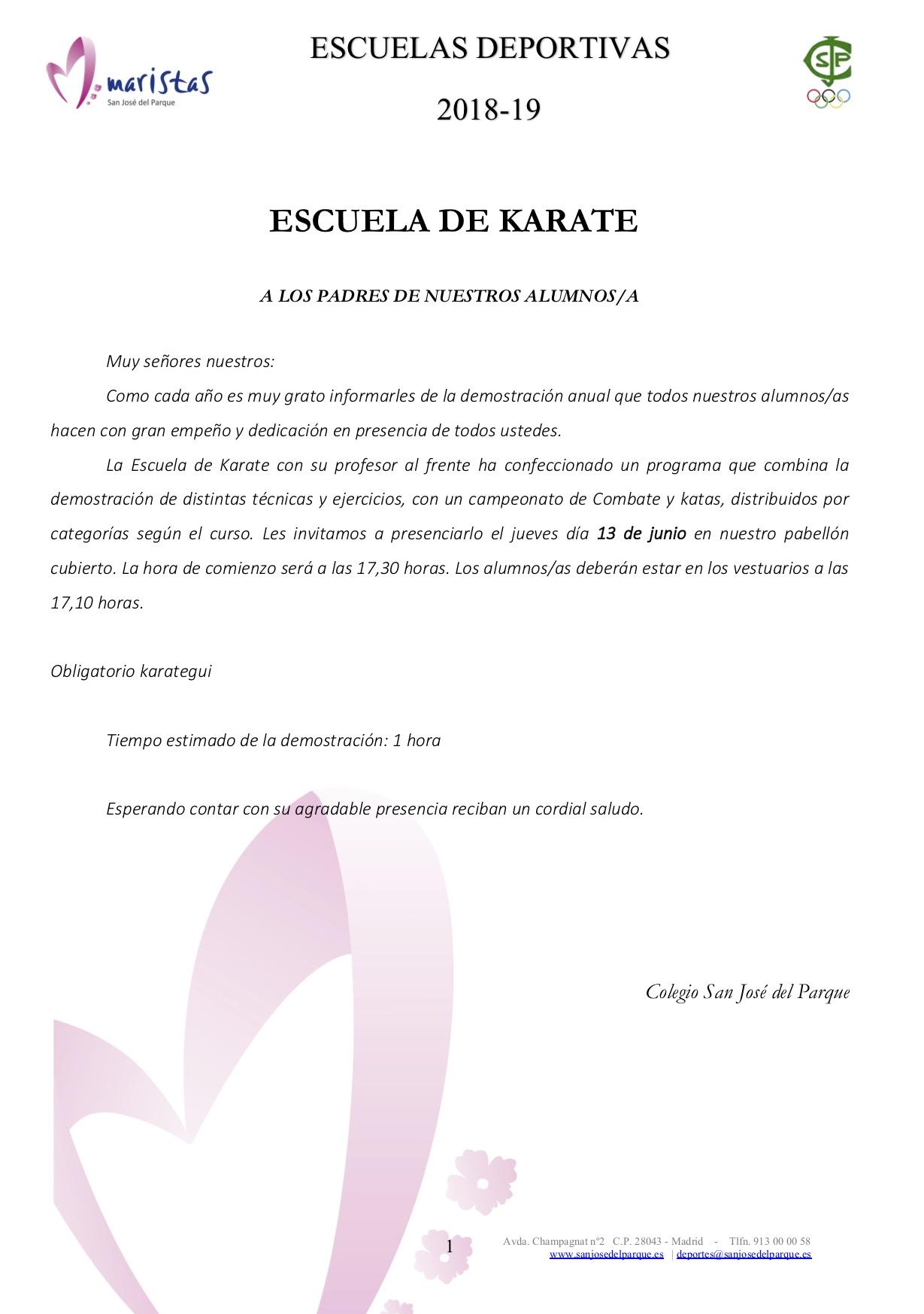 Karate @ Colegio SJP